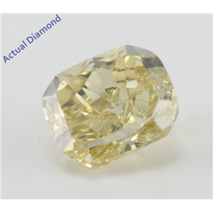 Cushion Cut Loose Diamond (1.24 Ct, Natural Fancy Yellow Color, SI1 Clarity) GIA Certified