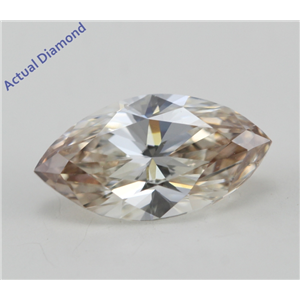 Marquise Cut Loose Diamond (0.97 Ct, Natural Light Brown Color, VS2 Clarity) IGL Certified