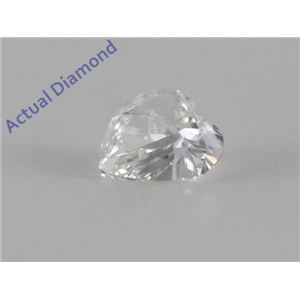 Heart Cut Loose Diamond (0.3 Ct, F Color, SI1 Clarity)