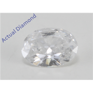 Oval Cut Loose Diamond (0.28 Ct, F Color, SI3 Clarity)
