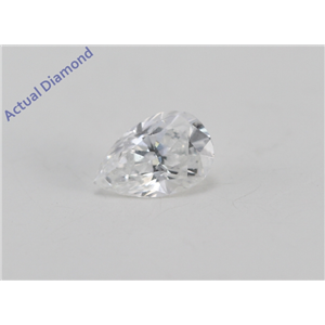 Pear Cut Loose Diamond (0.33 Ct, D Color, VS1-VS2 Clarity) IGL Certified