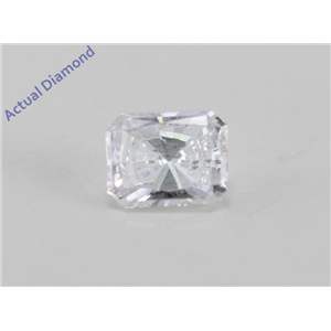 Radiant Cut Loose Diamond (0.42 Ct, D Color, SI2 Clarity) IGL Certified