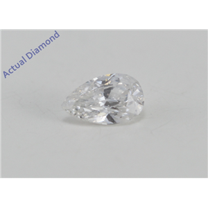 Pear Cut Loose Diamond (0.26 Ct, D Color, VS2 Clarity) IGL Certified
