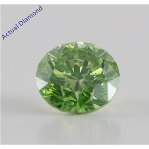 Round Cut Loose Diamond (1.05 Ct, Olive Green(Color Irradiated) ,SI3)