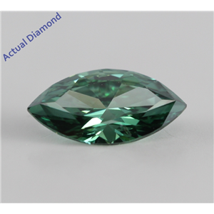 Marquise Cut Loose Diamond (0.76 Ct, Olive Green(Color Irradiated), SI1(ClarIty Enhanced))