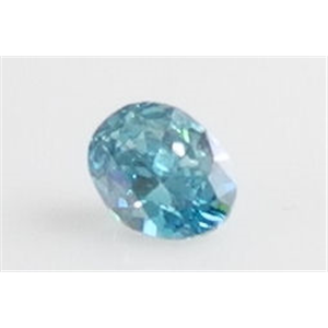 Oval Cut Loose Diamond (1 Ct, Ocean Blue(Color Irradiated) ,SI1(Clarity Enhanced))