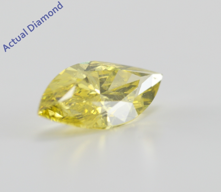 Marquise Cut Loose Diamond 2 55 Ct Canary Yellow Color