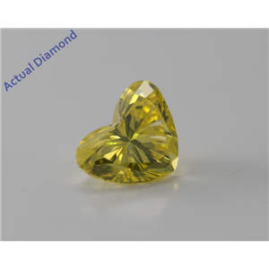 Heart Cut Loose Diamond (1.07 Ct, Vivid Canary Yellow (Color Irradiated), VS1(Clarity Enhanced)) IGL Certified