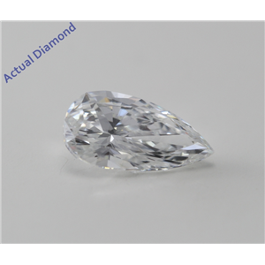 Pear Cut Loose Diamond (1 Ct, D, VS2(Clarity Enhanced)) IGL Certified