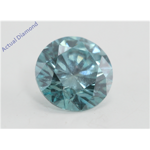 Round Cut Loose Diamond (0.76 Ct, Fancy Intense Blue(Irradiated) Color, VS1(Clarity Enhanced) Clarity) IGL