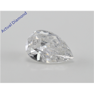 Pear Cut Loose Diamond (1 Ct, E Color, SI2(Laser Drilled) Clarity) IGL Certified