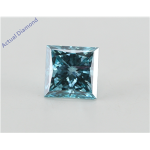 Princess Loose Diamond (1.14 Ct, Fancy Vivid Blue(Irradiated) Color, VS2(Clarity Enhanced) Clarity) IGL