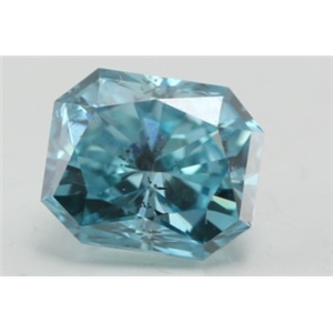 Radiant Loose Diamond (1.01 Ct, Fancy Vivid Blue(Irradiated) Color, SI1(Clarity Enhanced) Clarity) IGL