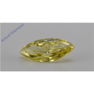 Marquise Cut Loose Diamond (1 Ct, Canary Yellow(Irradiated), ) Color, VS2 Clarity) IGL Certified