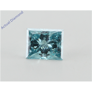 Princess Loose Diamond (1.02 Ct, Ocean Blue(Irradiated) Color, VVS2(Clarity Enhanced) Clarity) IGL Certified