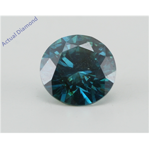 Round Loose Diamond (2.31 Ct, Fancy Vivid Blue(Irradiated) Color, SI1(Clarity Enhanced) Clarity) IGL