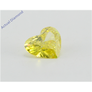 Heart Loose Diamond (0.77 Ct, Canary Yellow(Irradiated) Color, SI1(Clarity Enhanced) Clarity) IGL Certified