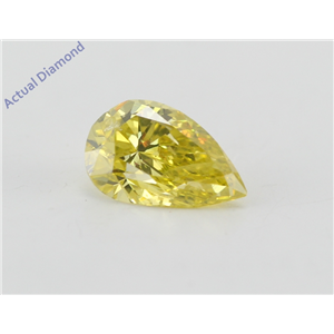 Pear Cut Loose Diamond (0.89 Ct, Canary Yellow(Irradiated) Color, SI1(Clarity Enhanced) Clarity) IGL Certified