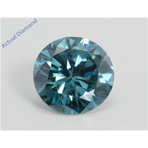 Round Loose Diamond (1.1 Ct, Fancy Intense Blue(Irradiated) Color, Vs2(clarity Enhanced) Clarity) IGL