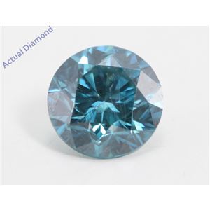 Round Loose Diamond (1.03 Ct, Fancy Intense Blue(Irradiated) Color, Vs2(clarity Enhanced) Clarity) IGL