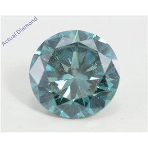 Round Loose Diamond (1.16 Ct, Fancy Intence Blue(Irradiated) Color, Vs2(clarity Enhanced) Clarity) IGL