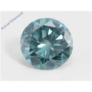 Round Loose Diamond (1.39 Ct, Fancy Intence Blue(Irradiated) Color, Si1(clarity Enhanced) Clarity) IGL