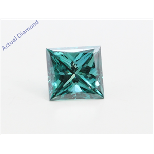 Princess Loose Diamond (0.75 Ct, Fancy Intence Blue(Irradiated) Color, Vs1(clarity Enhanced) Clarity) IGL