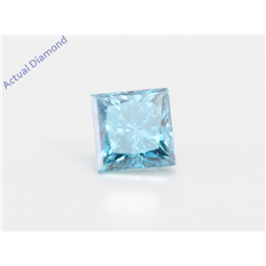Princess Loose Diamond (0.69 Ct, Fancy Intence Blue(Irradiated) Color, Vs2(clarity Enhanced) Clarity) IGL