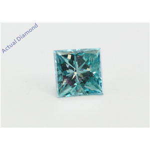 Princess Loose Diamond (1.09 Ct, Fancy Intence Blue(Irradiated) Color, Si1(clarity Enhanced) Clarity) IGL