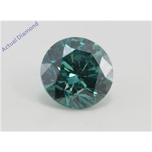 Round Loose Diamond (1.26 Ct, Fancy Intence Blue(Irradiated) Color, Vs2(clarity Enhanced) Clarity) IGL