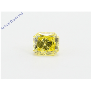Radiant Loose Diamond (0.86 Ct, Fancy Intense Yellow(Irradiated) Color, Vs1(clarity Enhanced) Clarity) IGL