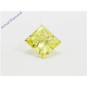 Princess Loose Diamond (1.01 Ct, Fancy Canary(Irradiated) Color, Vs1(clarity Enhanced) Clarity) IGL Certified