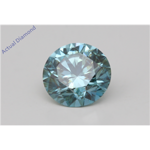 Round Loose Diamond (2.06 Ct,Fancy Intense Blue(Irradiated) Color,SI1(CLARITY ENHANCED) Clarity) IGL