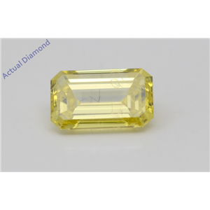 Emerald Loose Diamond (1 Ct,Fancy Intense Yellow(Irradiated) Color,VS2(CLARITY ENHANCED) Clarity) IGL