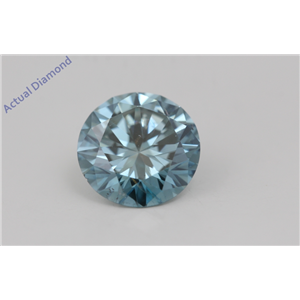 Round Loose Diamond (1.72 Ct,Fancy Intense Blue(Irradiated) Color,VS1(CLARITY ENHANCED) Clarity) IGL