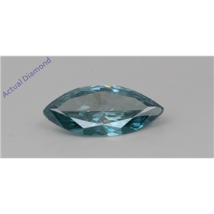 Marquise Loose Diamond (1.14 Ct,Fancy Intense Blue(Irradiated) Color,VS1(CLARITY ENHANCED) Clarity) IGL