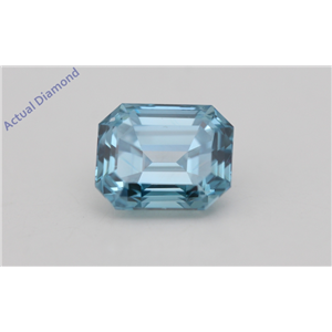 Emerald Loose Diamond (0.8 Ct,Fancy Intense Blue(Irradiated) Color,VS1(CLARITY ENHANCED) Clarity) IGL