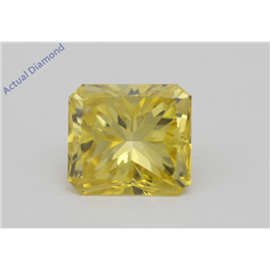 Radiant Loose Diamond (1.51 Ct Fancy Intense Yellow(Irradiated) Color VVS2(CLARITY ENHANCED) Clarity) IGL