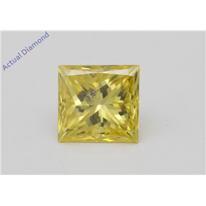Princess Loose Diamond (1.09 Ct Fancy Intense Yellow(Irradiated) Color SI1(CLARITY ENHANCED) Clarity) IGL