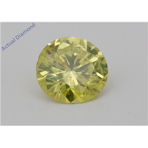 Round Loose Diamond (1.41 Ct,Fancy Intense Yellow(Irradiated) Color,SI1(CLARITY ENHANCED) Clarity) IGL