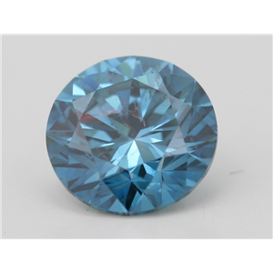 Round Loose Diamond (1.06 Ct,Fancy Intense Blue(Irradiated) Color,VS2(CLARITY ENHANCED) Clarity) IGL