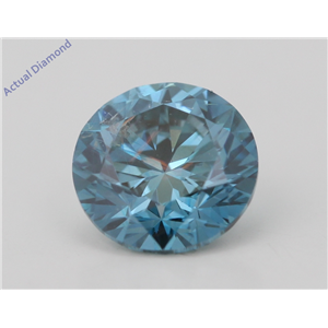 Round Loose Diamond (1.01 Ct,Fancy Intense Blue(Irradiated) Color,SI1(CLARITY ENHANCED) Clarity) IGL