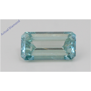 Emerald Loose Diamond (1.5 Ct,Fancy Apple Blue(Irradiated) Color,VS2(CLARITY ENHANCED) Clarity) IGL