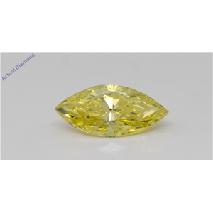 Marquise Cut Loose Diamond (0.72 Ct,Fancy Intense Yellow(Irradiated) Color,SI1 Clarity) IGL Certified