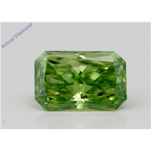 Radiant Cut Loose Diamond (1.54 Ct,Green Olive(Color Enhanced) Color,Vs1(Enhanced) Clarity) Igl Certified