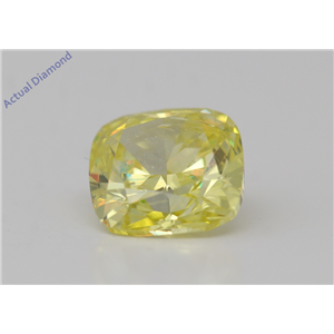 Cushion Loose Diamond (1.14 Ct,Fancy Intense Yellow(Color Enhanced) Color,Si1(Enhanced) Clarity) Igl