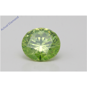 Round Cut Loose Diamond (2 Ct,Green Olive(Color Enhanced) Color,Si2(Enhanced) Clarity) Igl Certified