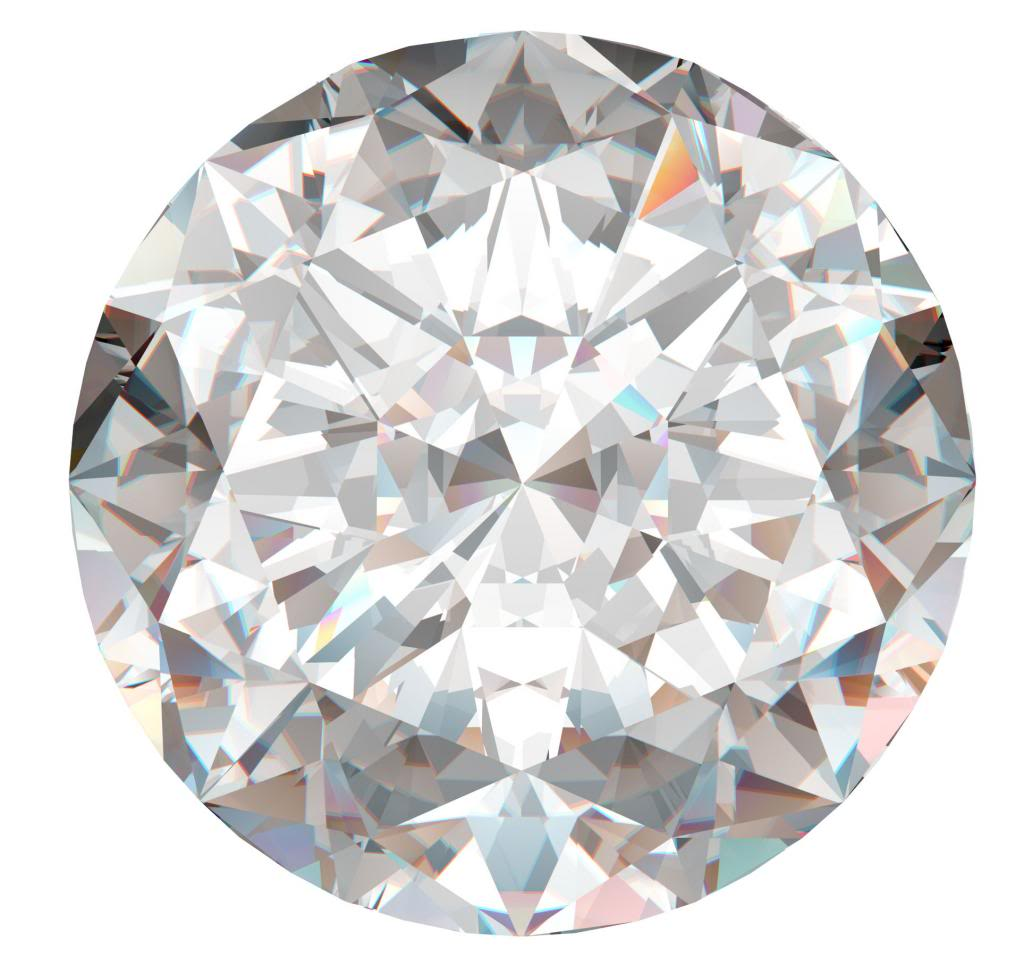 Round Cut Loose Diamond (0.69 Ct, H Color ,I2(CLARITY ENHANCED ...
