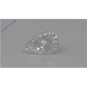Pear Cut Loose Diamond (0.66 Ct, G Color, SI2 Clarity) GIA Certified