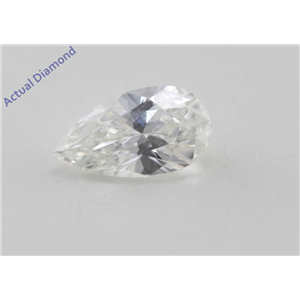 Pear Cut Loose Diamond (0.59 Ct, I Color, SI1 Clarity) GIA Certified